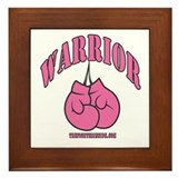 WARRIOR PINK GLOVES Framed Tile