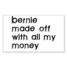 BERNIE MADOFF Rectangle Decal