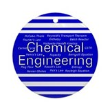 Chemical Engineering Ornament (Round)