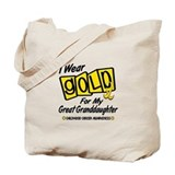 I Wear Gold For My Great Granddaughter 8 Tote Bag