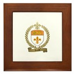 LOREAU Family Crest Framed Tile