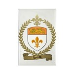 LOREAU Family Crest Rectangle Magnet