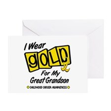 I Wear Gold For My Great Grandson 8 Greeting Card