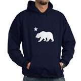 California Bear Flag (white) Hoody