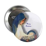 "Christmas Mary 2.25"" Button (10 pack)"