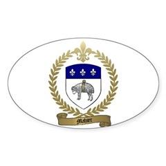 MAHIER Family Crest Oval Sticker