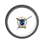 MALETT Family Crest Wall Clock