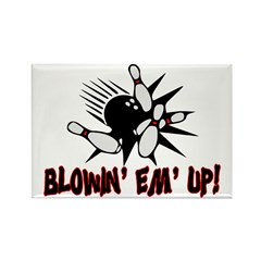 Blowin' Em' Up Rectangle Magnet (100 pack)