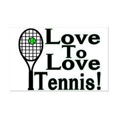Love To Love Tennis Mini Poster Print