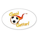 Goal Getter Oval Sticker (10 pk)