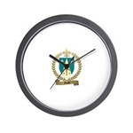 MASSE Family Crest Wall Clock