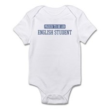 Proud to be a English Student Infant Bodysuit