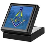 Masonic water scene Keepsake Box