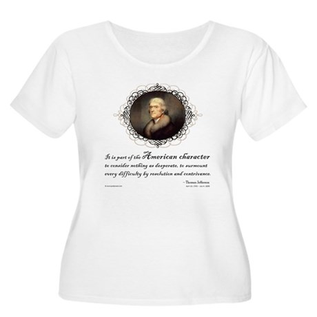 Jefferson Quote: Character Women's Plus Size Scoop