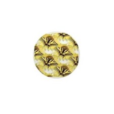 Yellow Swallowtail Butterfly Mini Button