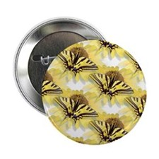 "Yellow Swallowtail Butterfly 2.25"" Button (10 pack"