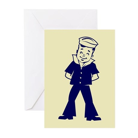 """A little Seaman"" Greeting Cards (Pack of 6)"