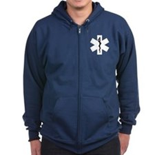 EMS Star of Life Zipped Hoodie