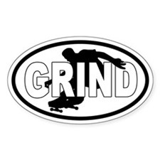 GRIND Skateboarding Euro Oval Decal