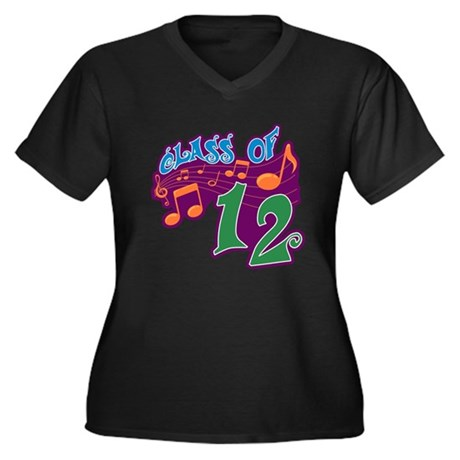 Class of 12 Musical Women's Plus Size V-Neck Dark