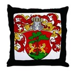 Blankers Family Crest Throw Pillow