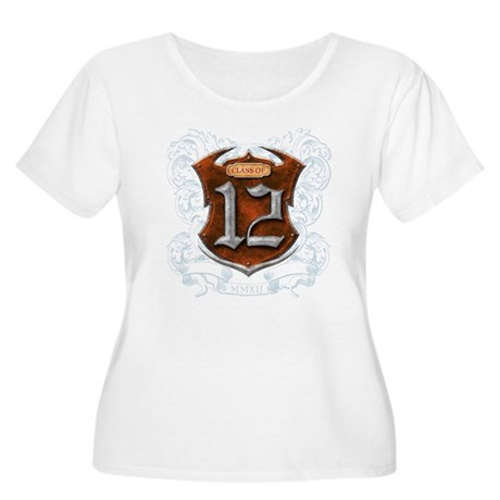 Class of 12 Shield Women's Plus Size Scoop Neck T-