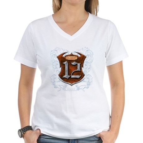 Class of 12 Shield Women's V-Neck T-Shirt