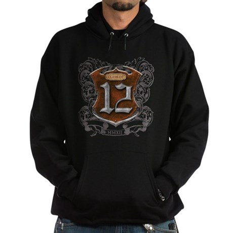 Class of 12 Shield Hoodie (dark)