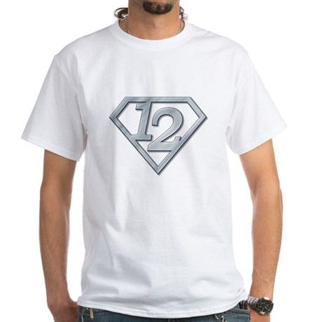 12 Superman White T-Shirt