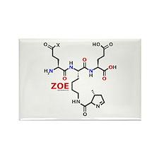 Zoe name molecule Rectangle Magnet