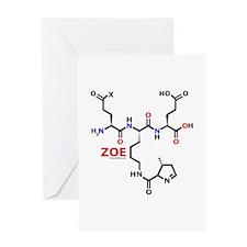 Zoe name molecule Greeting Card