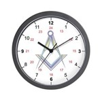 Masonic UK 24 hour Wall Clock