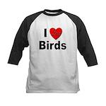 I Love Birds Kids Baseball Jersey