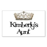 Kimberly's Aunt Rectangle Decal