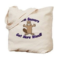 Latin Beavers Get More Wood Tote Bag