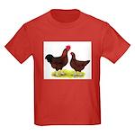 Red Broiler Chickens 2 Kids Dark T-Shirt
