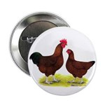 """Red Broiler Chickens 2 2.25"""" Button (100 pack"""