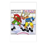 Where the Deer & the Antelope Play Hockey Postcard