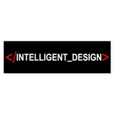 End Intelligent Design Bumper Bumper Sticker