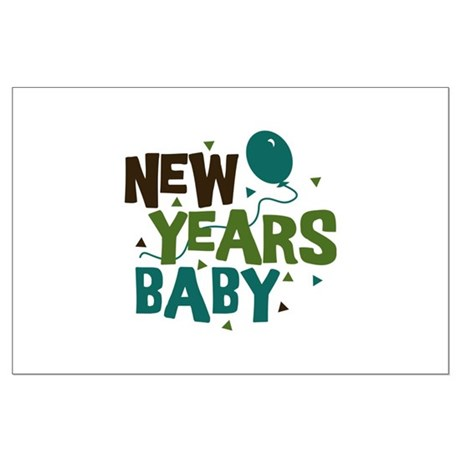 New Years Baby Large Poster