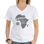 Africa Is A Continent Women's V-Neck T-Shirt