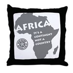 Africa Is A Continent Throw Pillow
