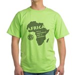 Africa Is A Continent Green T-Shirt