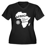 Africa Is A Continent Women's Plus Size V-Neck Dar