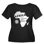 Africa Is A Continent Women's Plus Size Scoop Neck