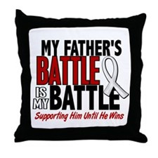 My Battle Too 1 PEARL WHITE (Father) Throw Pillow