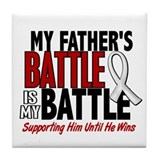 My Battle Too 1 PEARL WHITE (Father) Tile Coaster