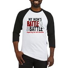 My Battle Too 1 PEARL WHITE (Mom) Baseball Jersey