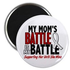 "My Battle Too 1 PEARL WHITE (Mom) 2.25"" Magnet (10"
