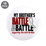 "My Battle Too 1 PEARL WHITE (Brother) 3.5"" Button"